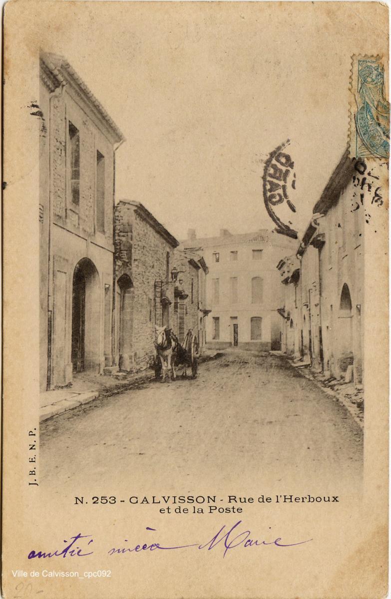 Rue de l'Herboux et de la Poste cpc092 XnC-2048